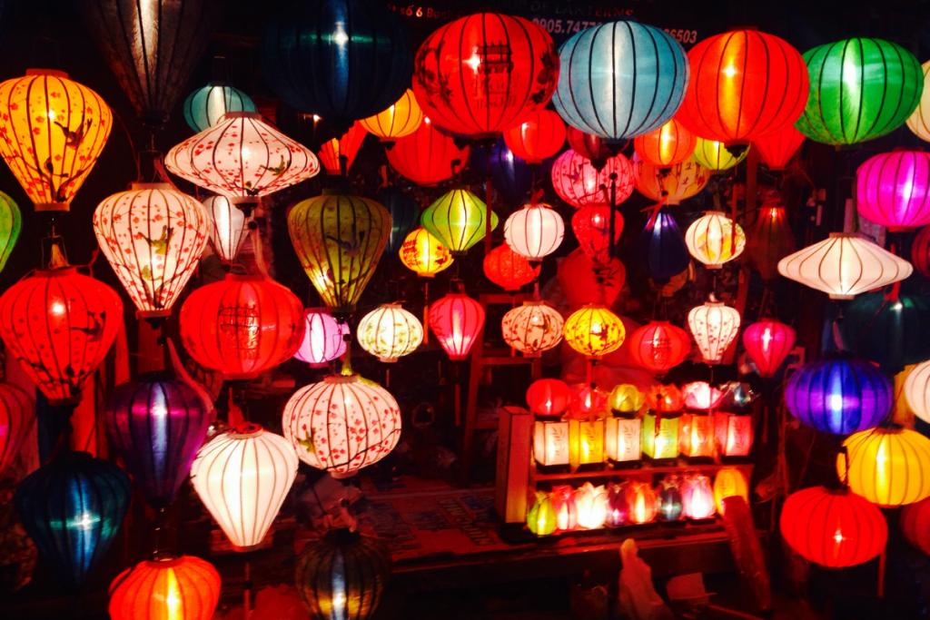 Chinese Lanterns in a Restaurant